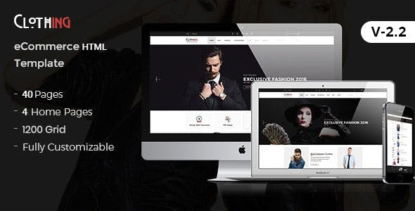 Clothing - Fashion Modern HTML5 eCommerce Website Template