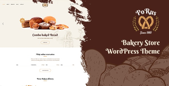 Porus - Bakery Store WordPress Theme - Food Retail