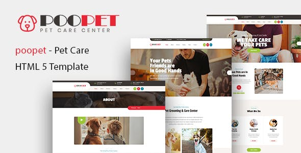 Poopet - Pet Grooming & Care Center HTML Template