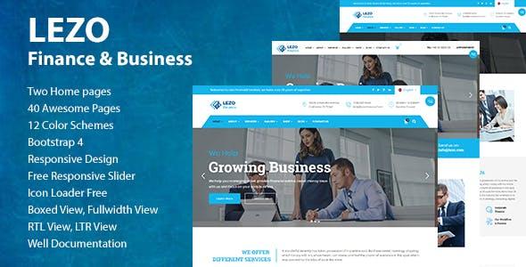 Lezo Finance & Business HTML5 Template
