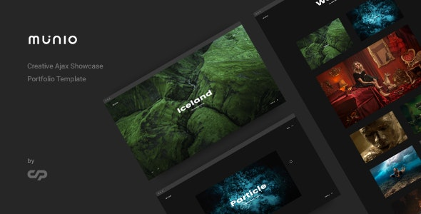 Munio - Creative Ajax Portfolio Showcase Slider Template - Portfolio Creative