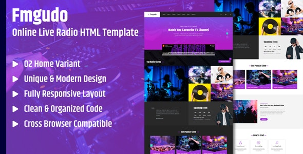 Fmgudo - Online Live Radio HTML Template by BrothersLab