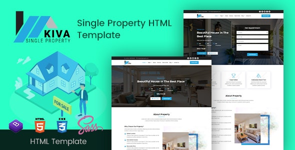 Kiva - Single Property HTML Template - Business Corporate