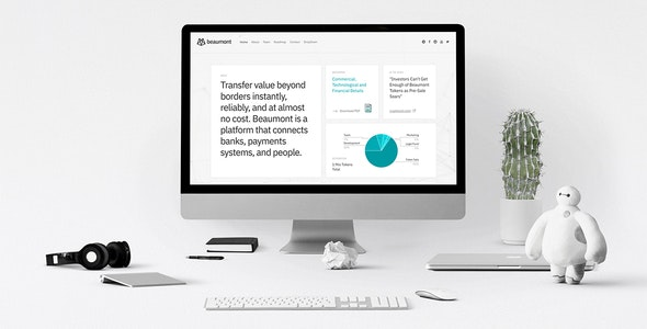 Beaumont – Cryptocurrency ICO Token HTML5 Template - Technology Site Templates