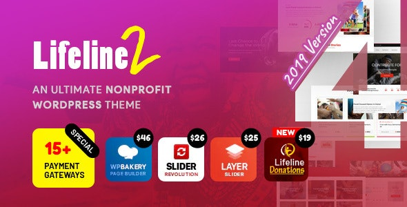Lifeline 2 – An Ultimate Nonprofit WordPress Theme for Charity, Fundraising and NGO Organizations