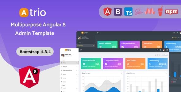 Atrio - Angular 8 Admin Dashboard Template by redstartheme