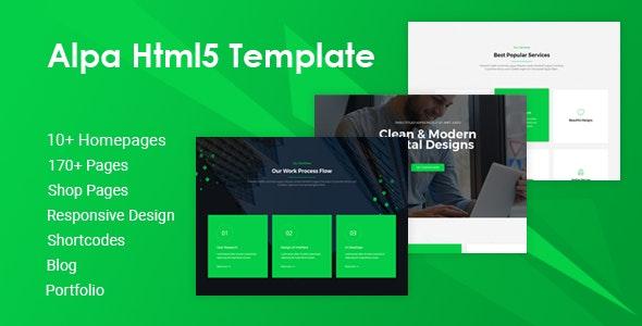 Alpa | Responsive Multipurpose HTML5 Website Template - Business Corporate
