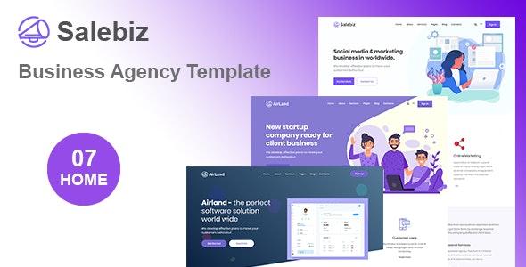 Salebiz - Creative Business HTML Template by Rocks_theme