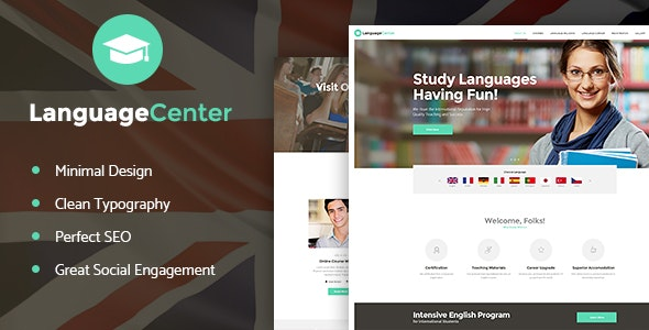 Language Center & Online School Education WordPress Theme - Education WordPress