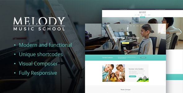 Melody - School of Arts & Music School WordPress Theme - Education WordPress