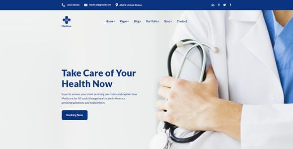 Medinus-PSD template for Medical and Hospitals