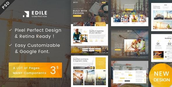 Edile - Construction PSD Template - Business Corporate