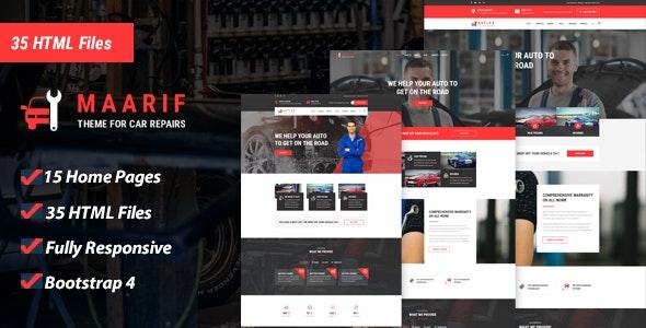 Maarif - Car Service & Car Repair HTML Template - Business Corporate