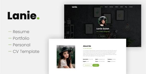 Lanie - Creative Resume Portfolio Template by adamthemes
