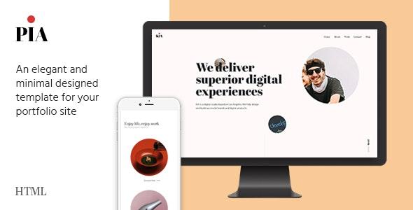 PIA - A Unique Portfolio Template - Portfolio Creative