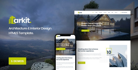 Arkit - Architecture & Interior HTML Template - Business Corporate