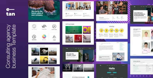 E—tan - Digital Consulting Agency HTML Template - Corporate Site Templates