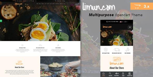 Limun - Multipurpose Responsive Opencart 3.x Theme