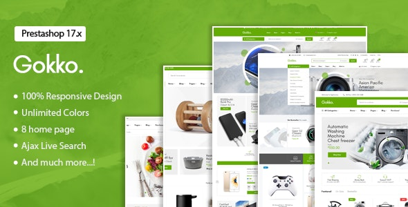 Gokko - Responsive Prestashop 1.7 Theme - Technology PrestaShop