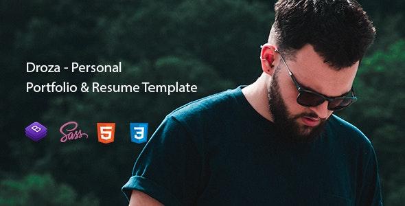 Droza - Personal Portfolio & Resume Template by Dream-code
