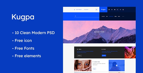 Kugpa - Multipurpose PSD Template - Personal Photoshop
