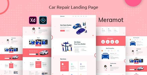 Meramot - Car Repair Landing Page - Sketch UI Templates