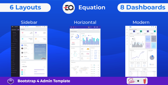 Equation - Responsive Admin Dashboard Template - Admin Templates Site Templates