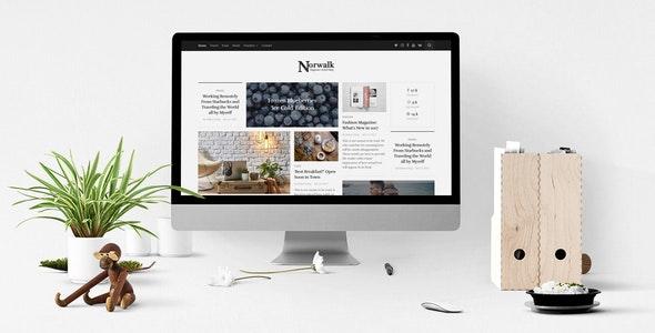 Norwalk – Responsive HTML5 Magazine-Styled Blog - Experimental Creative