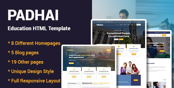 Padhai - Education HTML Template - Business Corporate