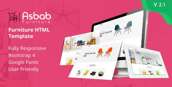 Asbab – Furniture HTML Template - Shopping Retail