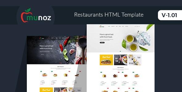 Munoz - Restaurant HTML Template - Food Retail