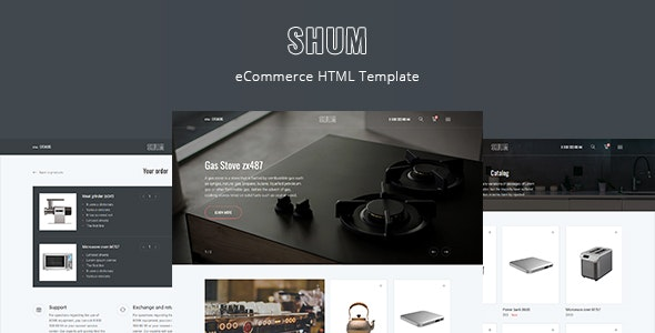 SHUM – eCommerce HTML Template - Retail Site Templates