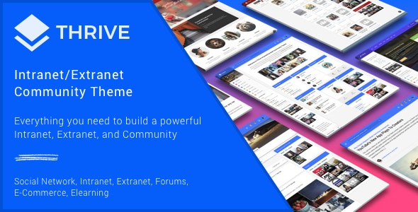 Thrive - Intranet/Extranet/Community WordPress Theme - BuddyPress WordPress