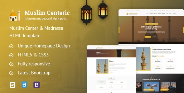Muslim Centeric - Islamic and Multipurpose HTML Template by kode4everyone