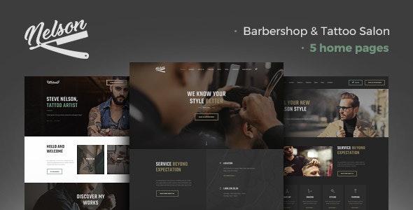 Nelson - Barbershop Hairdresser & Tattoo Salon WordPress Theme - Health & Beauty Retail