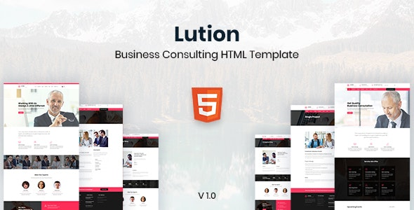 Lution - Business Consulting HTML Template - Business Corporate