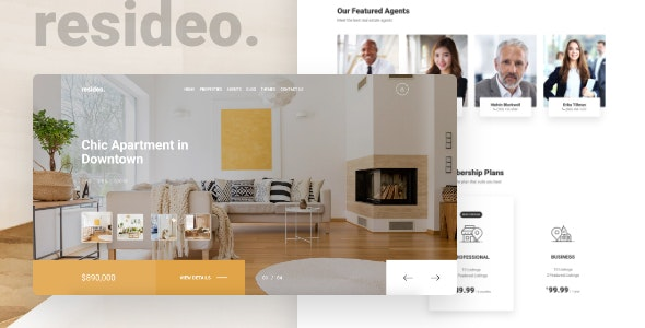 Resideo - Real Estate HTML Website Template - Business Corporate