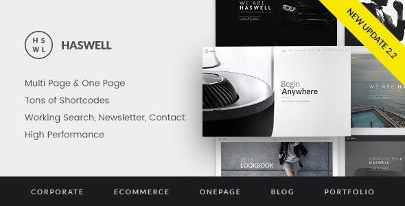 Haswell Multipurpose e & Multi Page Template by abcgomel