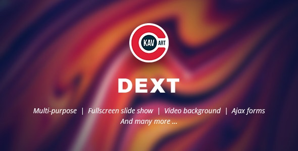 Dext HTML Creative Template - Creative Site Templates