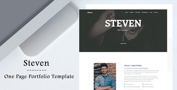 Steven - One Page Portfolio Template - Portfolio Creative