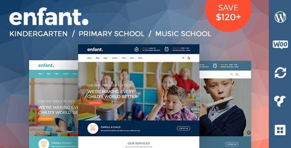 Enfant - School and Kindergarten WordPress Theme - Education WordPress