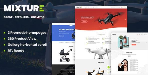 Mixture   Single Product Prestashop 1.7 Theme - PrestaShop eCommerce