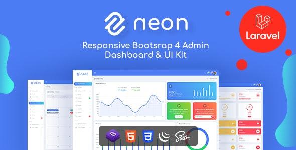 Neon - Bootstrap + Laravel Admin Dashboard Template - Admin Templates Site Templates