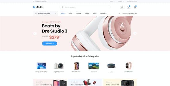 Molla - eCommerce PSD Template