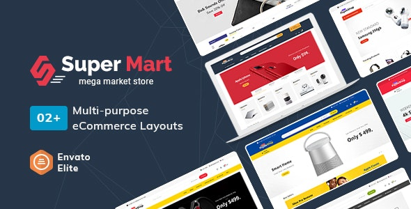 SuperMart - eCommerce Multi-Purpose PSD Template - Electronics Technology