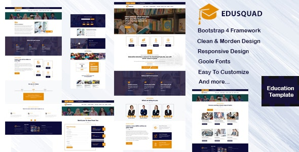 Edusquad - Bootstrap 4 Education Template - Site Templates