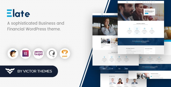 Elate | Financial Consulting WordPress Theme - Business Corporate