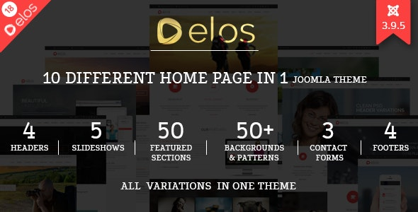 Elos - Responsive MultiPurpose Joomla Theme - Corporate Joomla