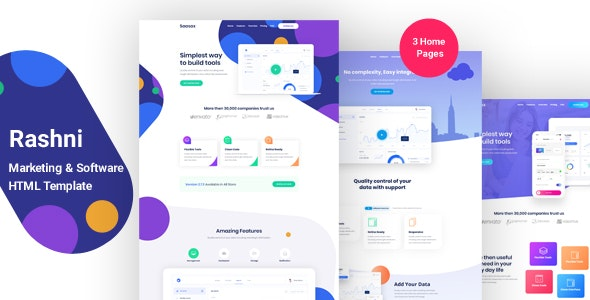 Rashni - Marketing & Software HTML Template - Technology Site Templates