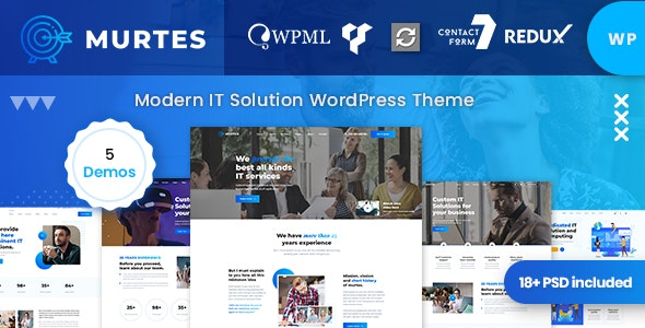 Murtes - IT Solutions WordPress Theme - Corporate WordPress